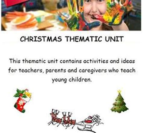 kindergarten christmas themed units mega christmas in july theme for preschool the