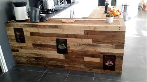 pallet kitchen counter  breakfast table storage