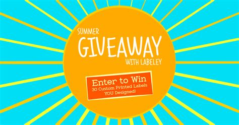 Facebook Giveaway Generator - labeley s first facebook giveaway get 30 custom printed labels