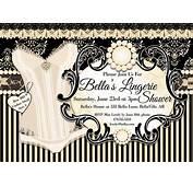 Lingerie Shower Invitation Bachelorette Party Bridal