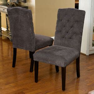 Grey Parsons Chair - set of 2 gray linen upholstered parsons dining