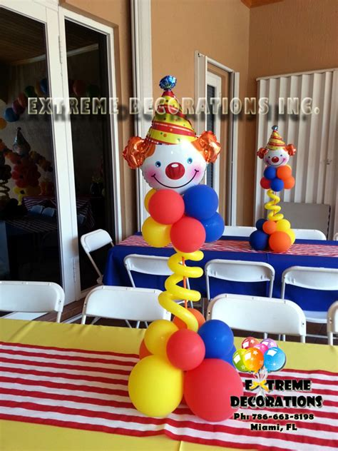 Carnival Themed Table Decorations Party Decorations Miami Frozen Party Decorations Balloons