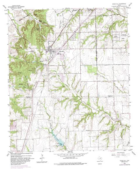 map of cedar hill texas cedar hill topographic map tx usgs topo 32096e8