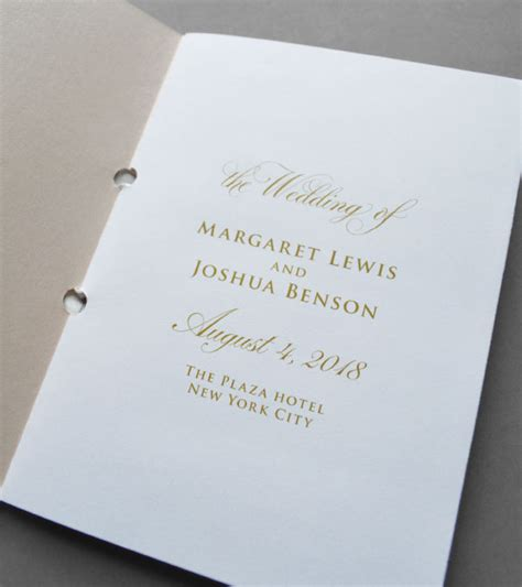 Wedding Program Book Cover by Kleinfeld Paper
