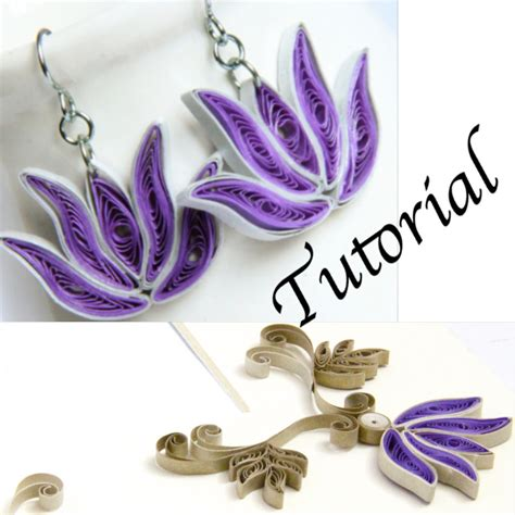 paper quilled flower earrings tutorial paper quilling tutorial for jewelry pdf lotus flower and
