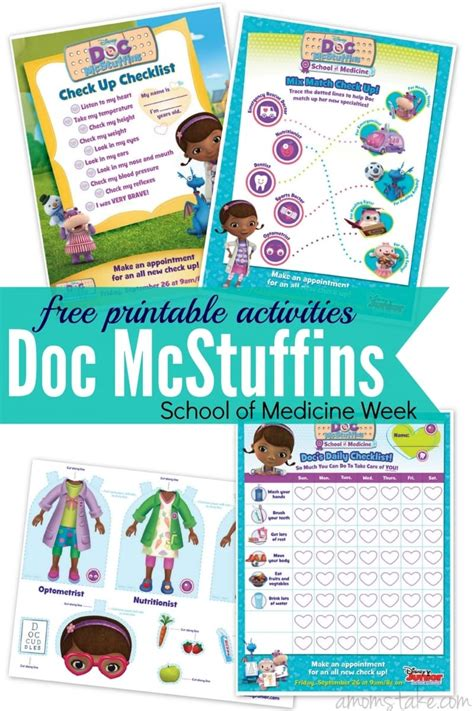 Doc Mcstuffins Worksheets doc mcstuffins printables new episode a s take
