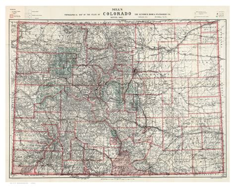 map reading and topographical sketching classic reprint books colorado 1905 nell state map reprint maps