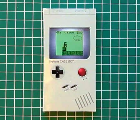 Gameboy Papercraft - papercraft nintendo boy for your iphone 4 how to