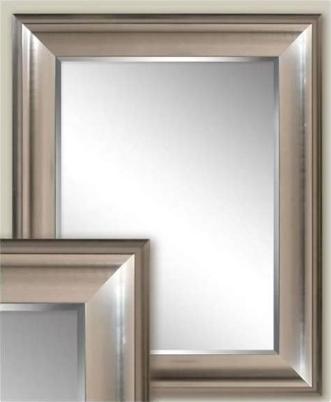framed bathroom mirrors brushed nickel transitional brushed nickel wall mirror 2076 bathroom