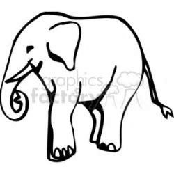 Download Black and white elephant silhouette cartoon