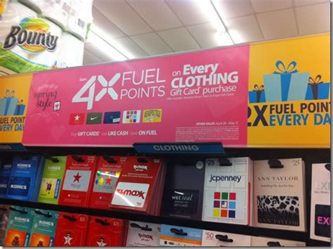 Kroger Travel Category Gift Cards - 4x fuel points at kroger with clothing gift cards points miles martinis
