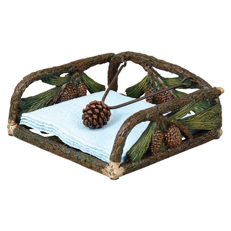 pinecone sculpted napkin holder