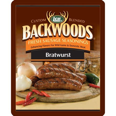 bratwurst seasoning backwoods bratwurst fresh sausage seasoning lem products