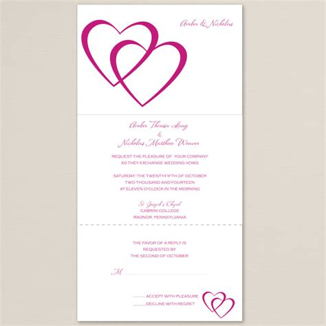 Seal And Send Wedding Invitations by Entwined Hearts Seal And Send Wedding Invitation
