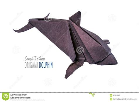 Dolphin Origami - dolphin origami of paper stock illustration image of