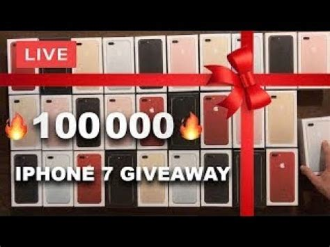 Iphone 7 Giveaway Live - iphone 7 giveaway 1500 left biggest giveaway ever youtube
