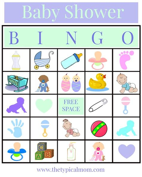 free baby shower bingo template baby shower bingo 183 the typical