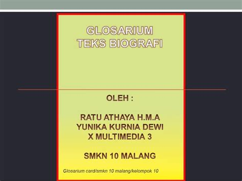 biografi adalah teks glosarium card teks biografi ratu dan yunika x mm 3