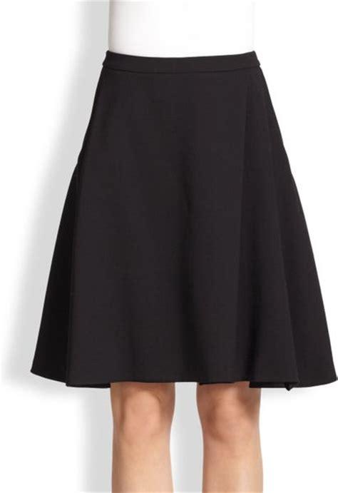 max mara wool a line skirt in black lyst