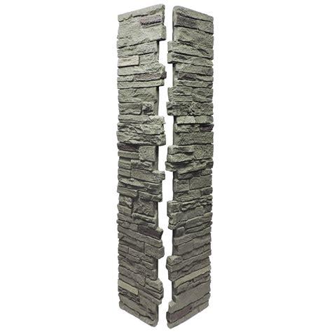 shop nextstone slatestone 41 in x 8 in pewter post cover