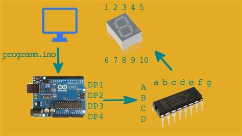 tutorial arduino deutsch 7 segment anzeige mit arduino arduino tutorial 6