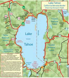 map lake tahoe california lake tahoe my california fishing boat list