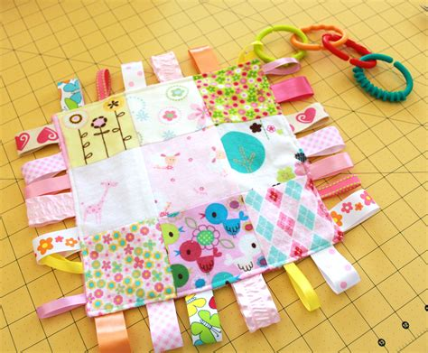 Handmade Taggies - reader tutorial patchwork taggie baby blankie and sew