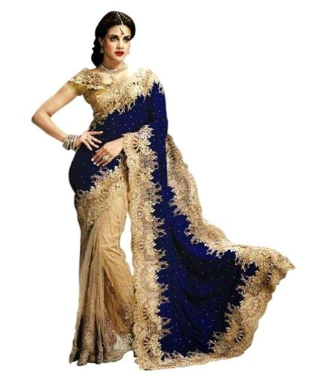 saloni designer blue velvet saree buy saloni designer