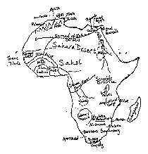 africa map rivers lakes mountains blank map of africa with rivers and mountains