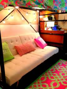 awesome futon set up underneath bunked bed