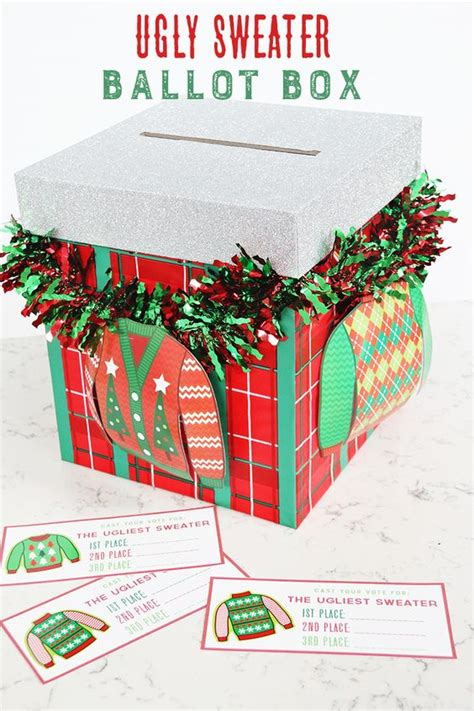 free printable ugly sweater voting ballots 16 totally unforgettable ugly sweater party ideas pretty