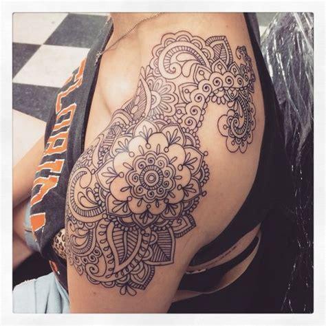 shoulder piece tattoo designs paisley mandala boho with tattoos