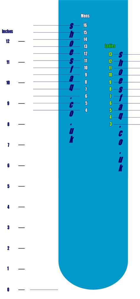 printable shoe size guide diabetes inc