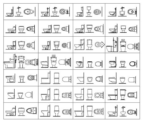Toilet Elevation Google Search Drafting Pinterest Toilets Accessories And Bathroom Toilet Template Autocad