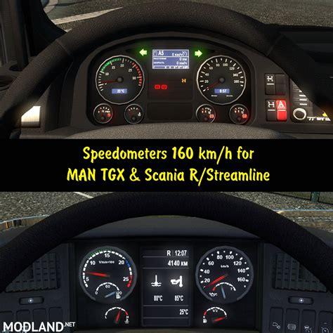 speedometers  km   man tgx scania