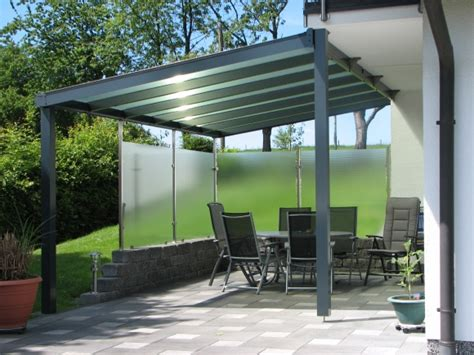 Terrassendach Aus Alu l 196 nger draussen aluminium terrassendach