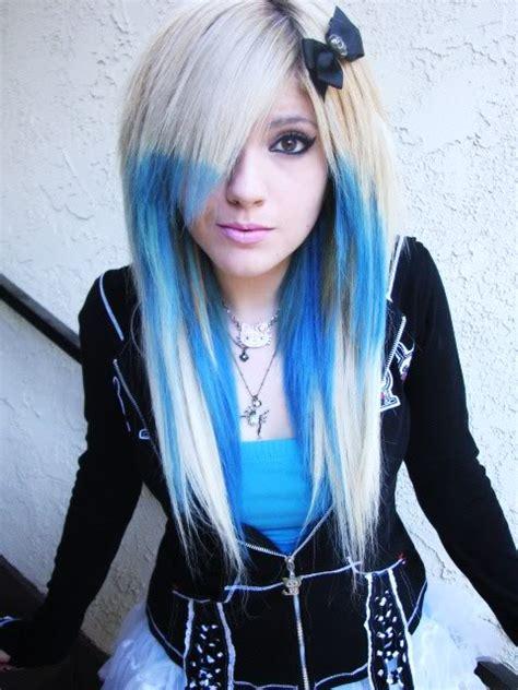 emo hairstyles blue and blonde scene girl scene girls photo 25861234 fanpop