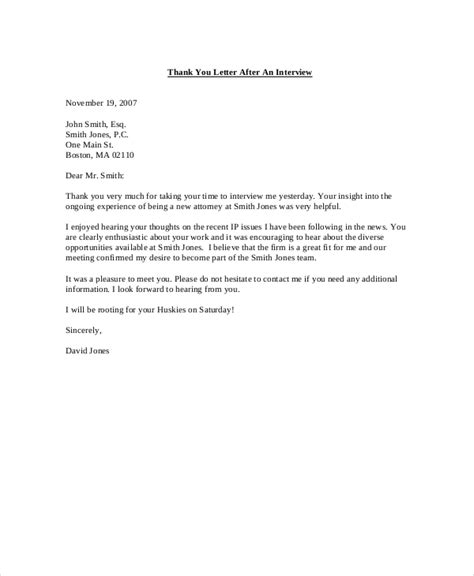 Thank You Letter After Informational sle influence letter after cover letter