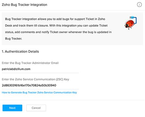 zoho desk customer portal zoho support bugtracker integration zoho projects