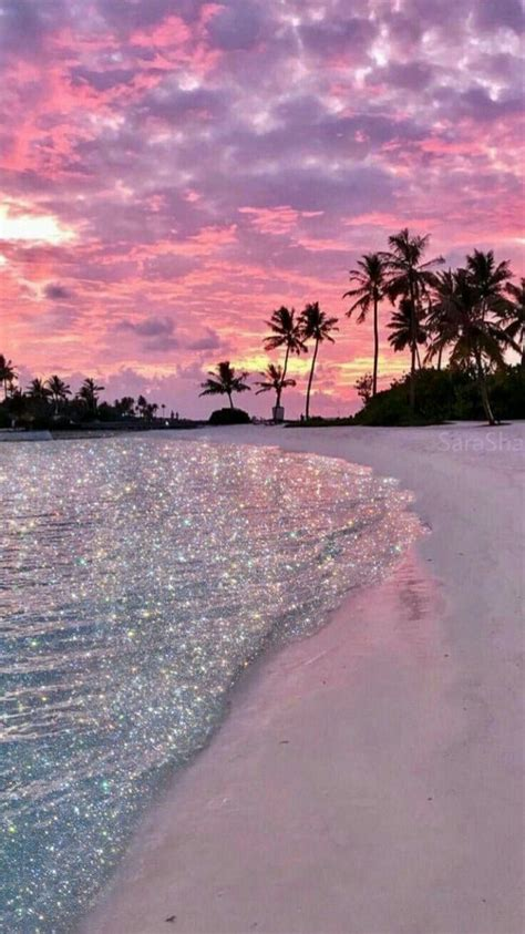 pink beach follow   insta amelie beach glitzer