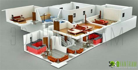 3d home decor design 3d hotel section view floor plan design mumbai india