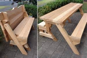 bench that folds into a picnic table one folding bench and picnic table plans downloadable