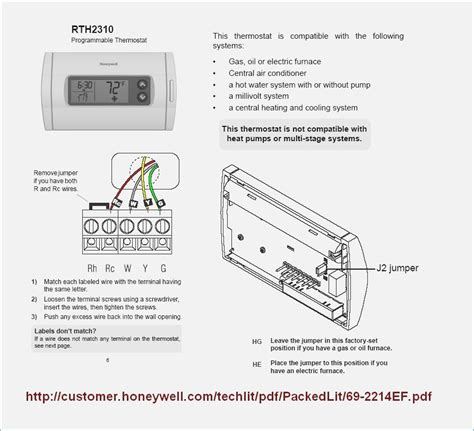 honeywell rth2300 rth221 thermostat wiring diagram