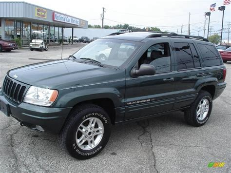 green jeep cherokee 2000 shale green metallic jeep grand cherokee limited 4x4