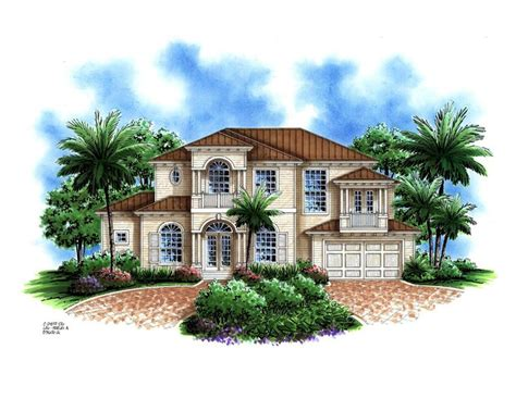 south florida house plans cayo costa 5 bedrooms 4 1 2 baths 2 story 2 car