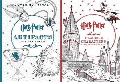 harry potter coloring book colored all the new harry potter coloring books you need in your