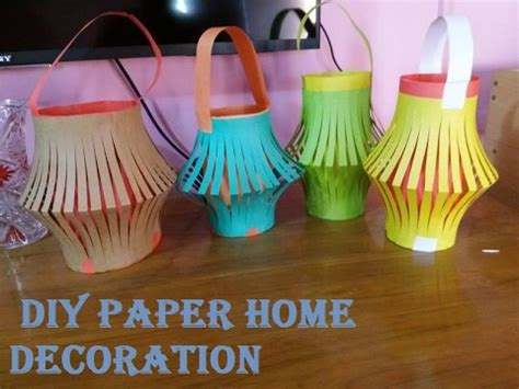 how to make beautiful paper lantern diy paper home