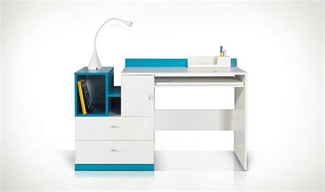 bureau pour ados bureau design ado et enfant en bois blanc et bleu jolly