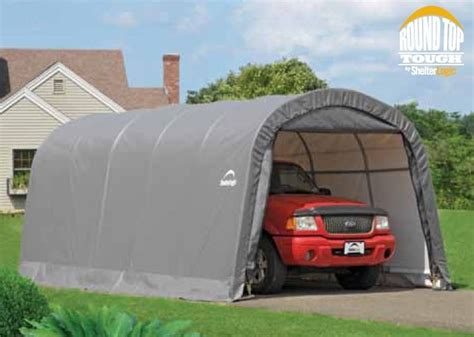 Portable Garages And Shelters Metal Shelterlogic 12x20x8 Auto Shelter Portable Garage