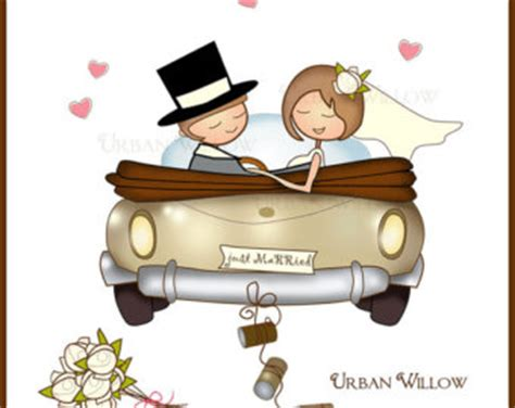 Wedding Clip Usa car clipart married pencil and in color car clipart married